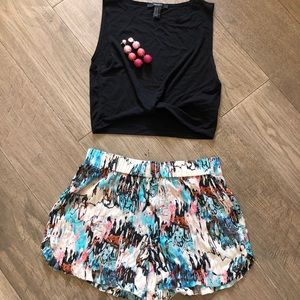 Silk French connection flowy shorts